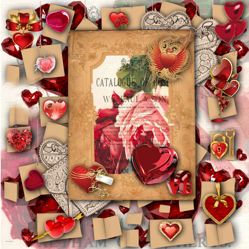 Scrap-kit - lots of love for Valentines Day 2012