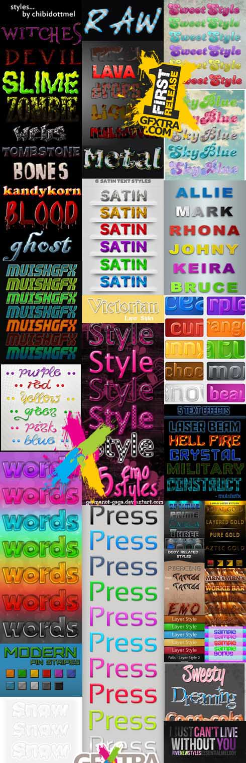 Text styles for Photoshop pack 41