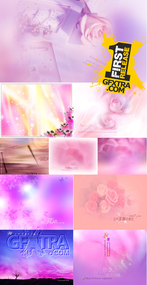 Collection of pink backgrounds for Photoshop
