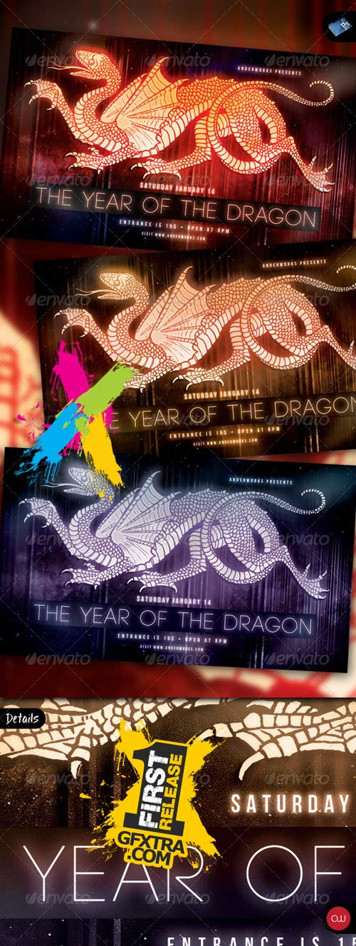 Template Flyers - Year of the Dragon 2012