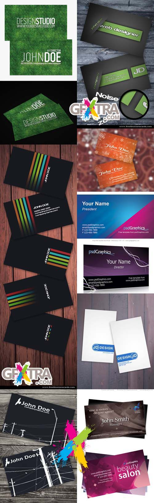 New collection of business cards 2012 pack 1