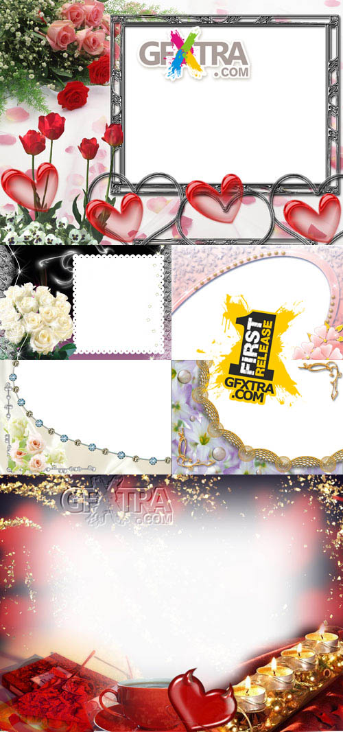 Collection of Photo frames for Valentine\'s Day pack 11