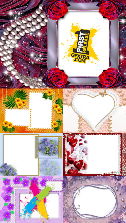 Collection of Photo frames for Valentine\'s Day pack 13
