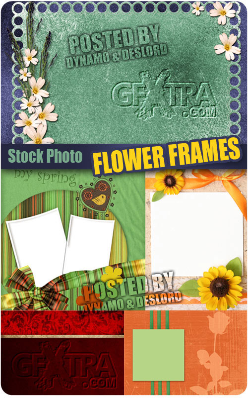 Flower frames - UHQ Stock Photo