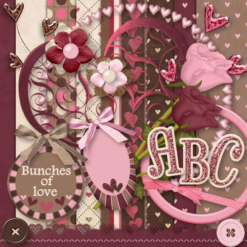 Scrap-set - Bunches of Love Day - PNG Images For Valentines Day 2012
