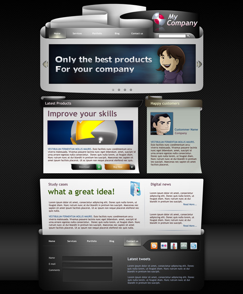 Corporate Template Black