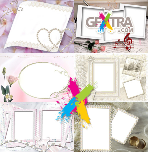 Collection of Photo frames for Valentine\'s Day pack 16