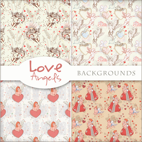 Romantic Textures 2012 - Love Angels Backgrounds