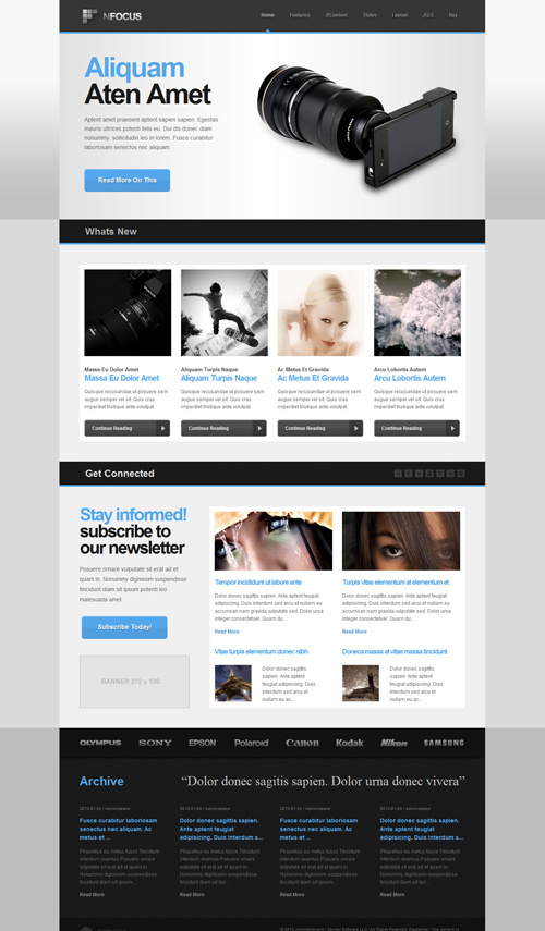 JoomlaXTC - nFocus - Joomla For 1.5 Template