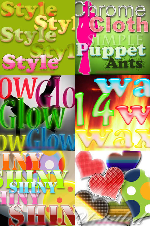 Photoshop Text Layer Styles Pack 24