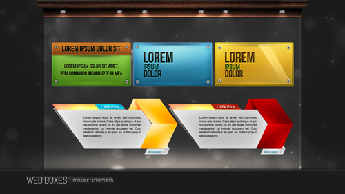 New Web Boxes Psd