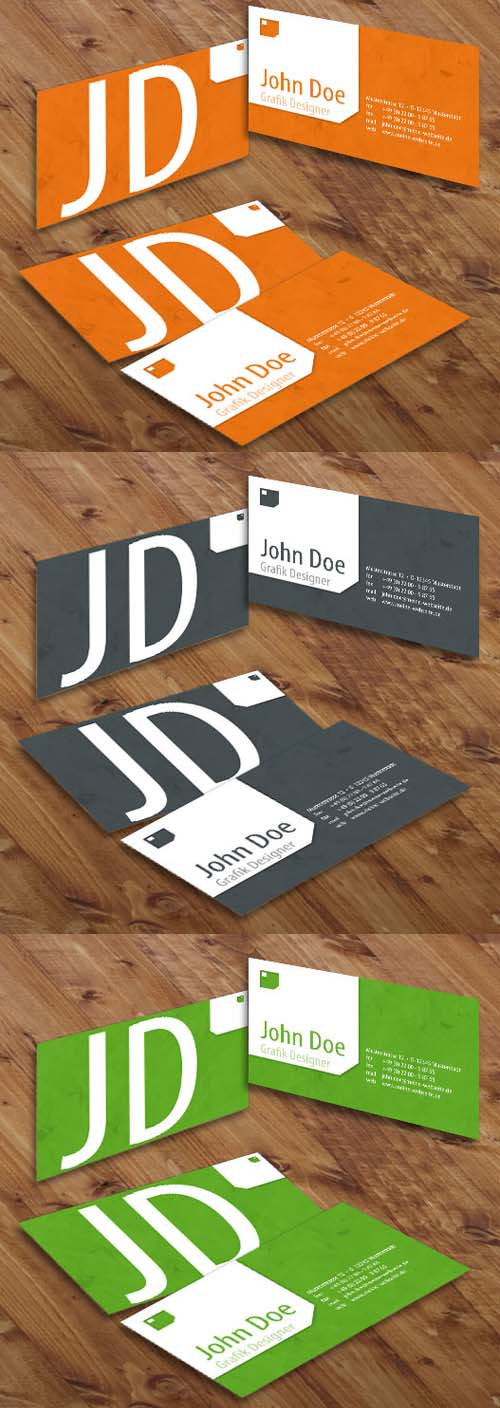 Stylish Colored Grunge Business Cards