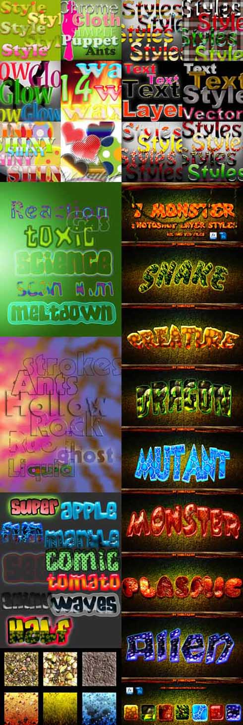 Photoshop Text Layer Styles Pack 28