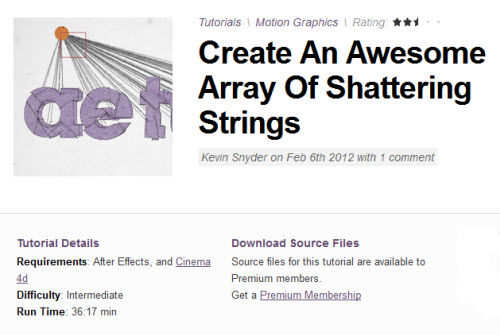 AE Tuts+ Create An Awesome Array Of Shattering Strings