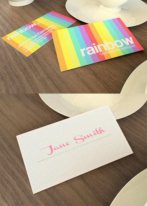 Rainbow and Modern Business Cards