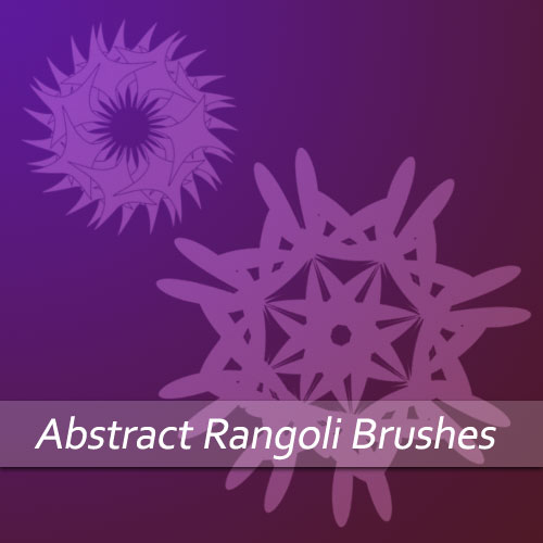 Abstract Rangoli Brushes