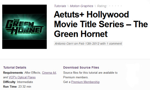 Aetuts+ Hollywood Movie Title Series – The Green Hornet