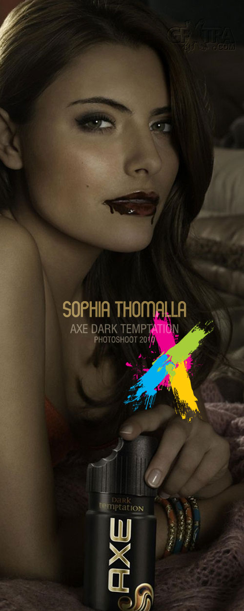 Sophia Thomalla - AXE Dark Temptation Photoshoot