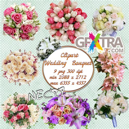 Wedding  Bouquet Clipart PNG