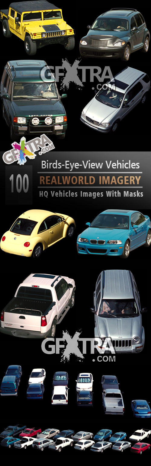 Realworld Imagery Birds-Eye-View Vehicles