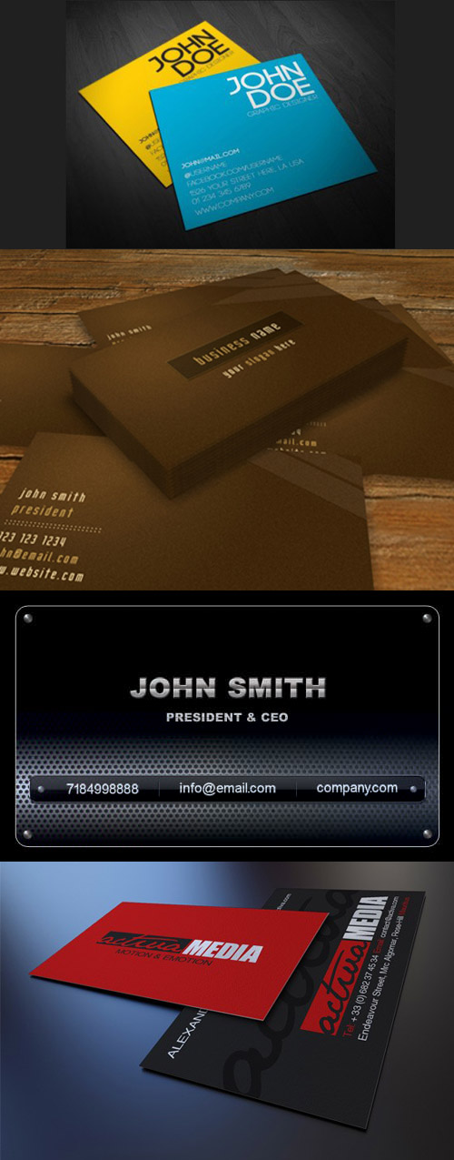Business Corporate Card Template PSD Pack