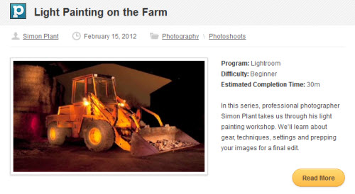 Tuts+ Premium - Light Painting on the Farm & The Post-Procesing
