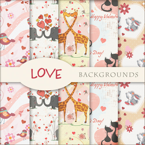 Exclusive Textures - Love Backgrounds For Creative Design 2012
