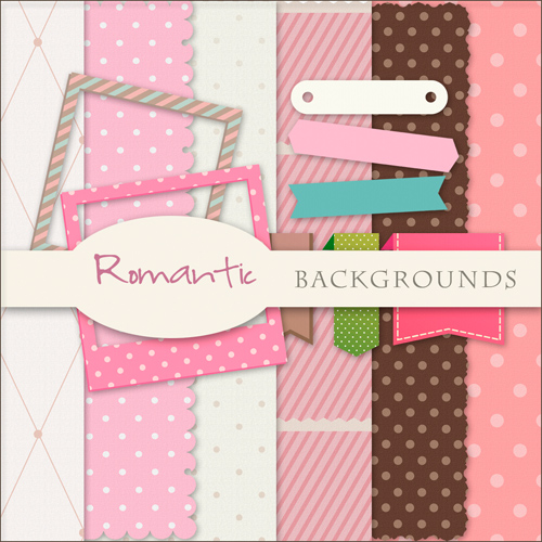 Romantic Scrap-set - Soft Love Kit For Design