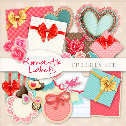 Romantic Scrap-kit - Labels PNG Images For Lover Design