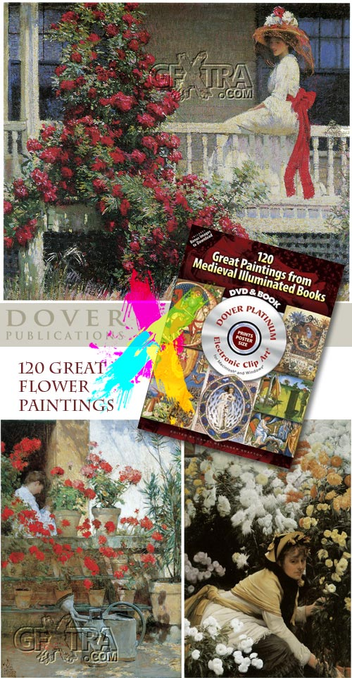 120 Great Flower Paintings - Dover DVD