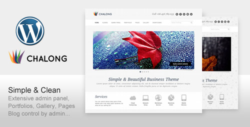 ThemeForest - Chalong v1.6 - Simple and Clean for Business Portfolio