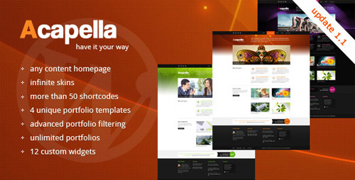 ThemeForest - Acapella v1.1 WordPress Theme