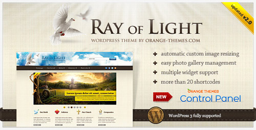 Ray Of Light v2.0.3 - ThemeForest WordPress Theme For Religious Movements (reuploaded)