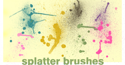 Splatter Brushes Set