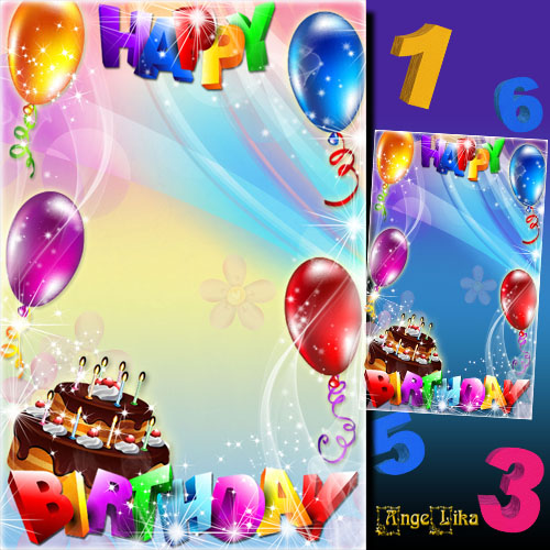 Kid\'s Frame for Photo - Happy Birthday 1