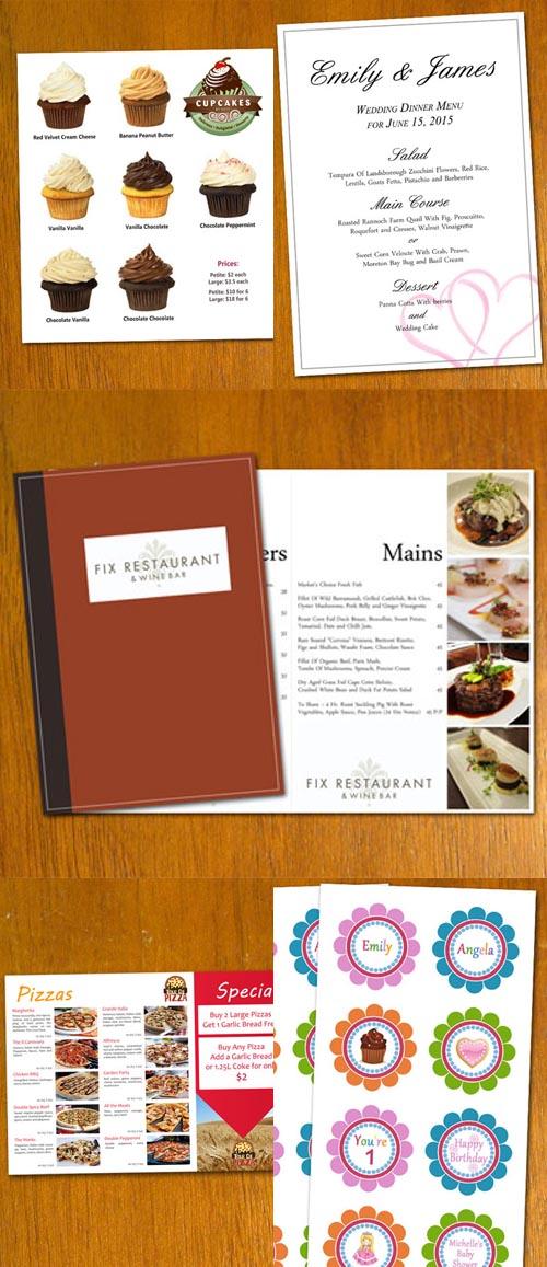 photoshop restaurant menu template .