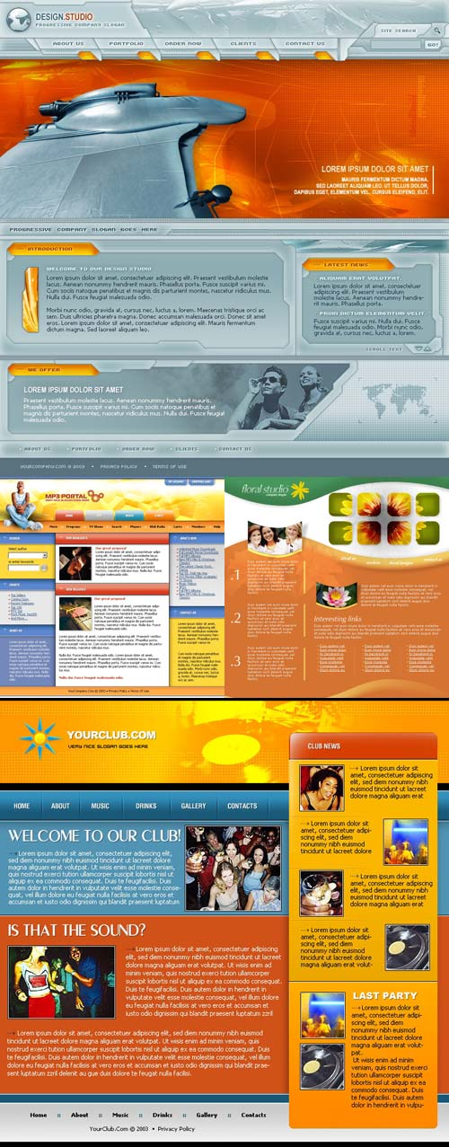 Orange Web 4 Template pack