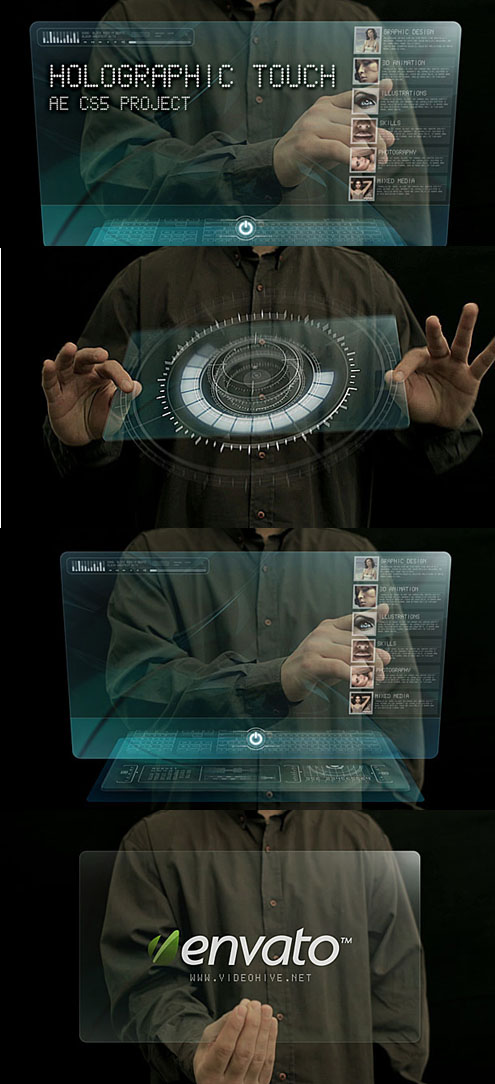 holographic touch ii - after effects project (videohive)