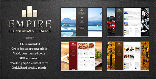 ThemeForest - EMPIRE - Elegant XHTML Template - Rip