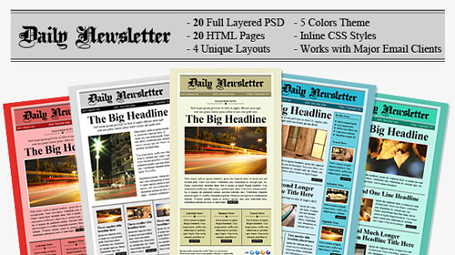 themeforest daily newsletter html email template retail 74 3 mb. Black Bedroom Furniture Sets. Home Design Ideas