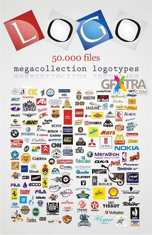 50.000 Commercial Logotypes EPS Collection