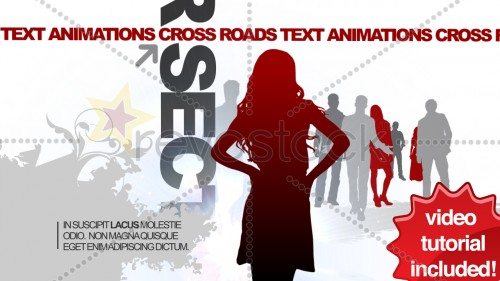 Revostock CrossRoads Text Animations 42899 - Projects for After Effects