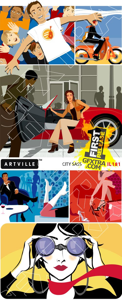 Artville Illustrations IL181 City Sass