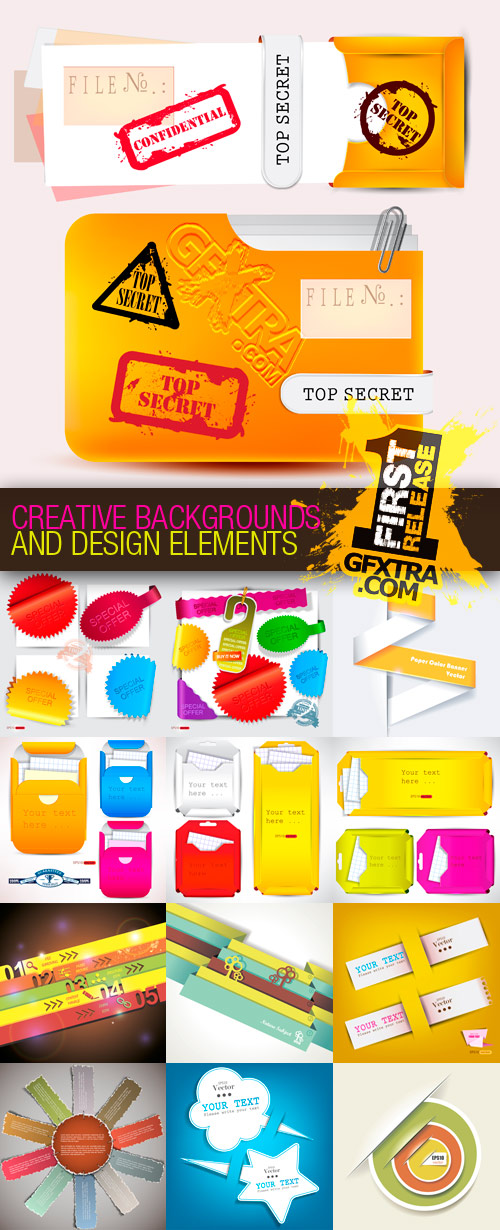 Amazing SS - Creative Backgrounds and Design Elements, 20xEPS