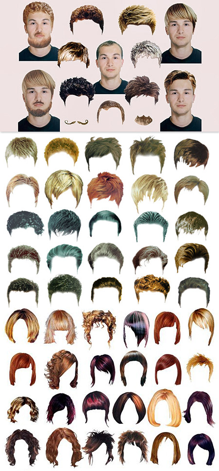 Hair Stylist - Men & Woman Hairstyle Templates