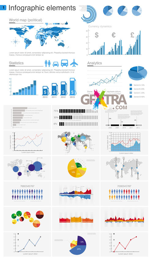 Infographics Vector Pack #19