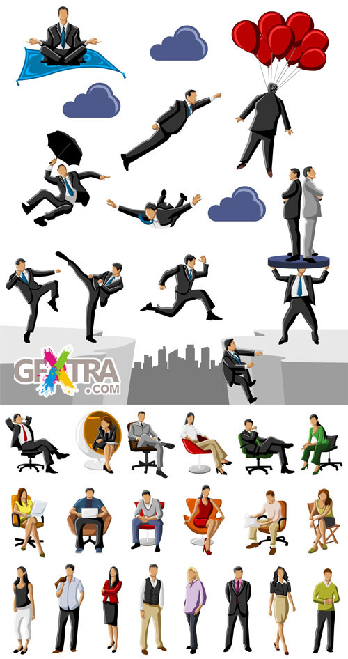 Vector Bussines People Pack #5