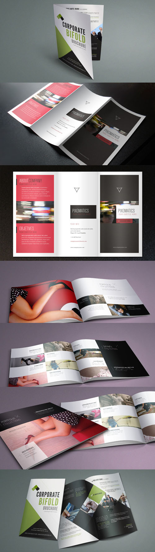 Catalog Fashion and Trifold Corporate Brochure Template