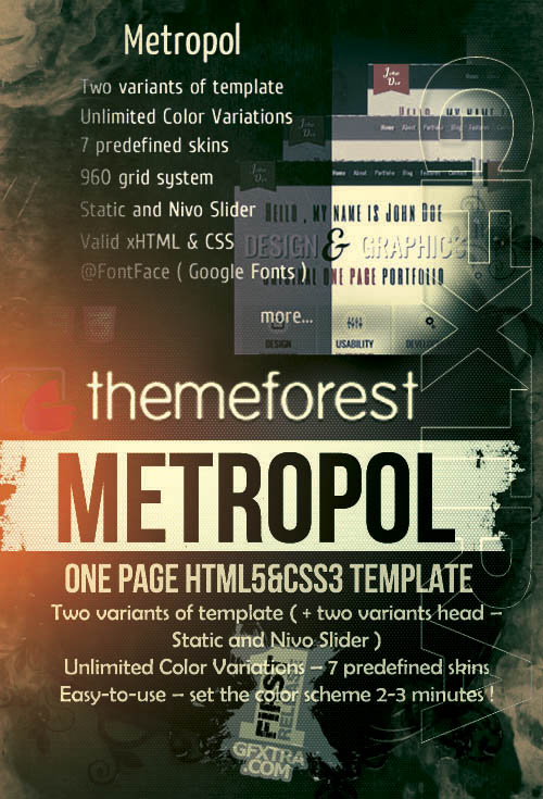ThemeForest: Metropol One Page Template
