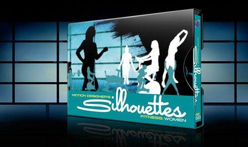 Fitness Women Silhouettes in Motion